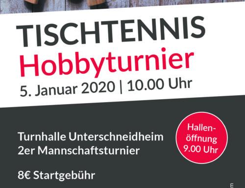 Einladung zum Tischtennis Hobbyturnier