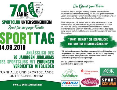 70 Jahre SCU / Sporttag am 14.09.
